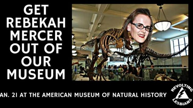 Revolt Against Rebekah Mercer at AMNH